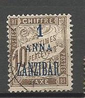 ZANZIBAR TAXE N° 2 OBL - Zanzibar (1894-1904)