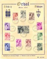 Herdenkingsblad ORVAL - Erinnerungskarten