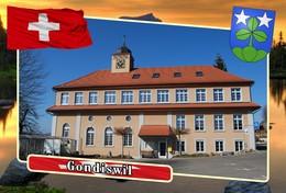 Postcard, REPRODUCTION, Municipalities Of Switzerland, Gondiswil - Landkaarten