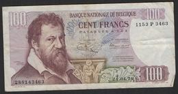 Belgique Billet 100 Francs 1970 Lambert Lombard - [ 2] 1831-... : Reino De Bélgica