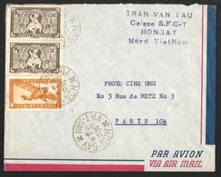 Enveloppe Avec Cachet HON-GAY VIET-NAM-Pour La France - Vietnam