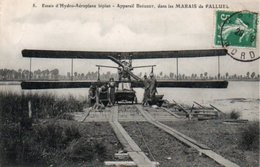CPA MARAIS DE PALLUEL ESSAIS D HYDRO AEROPLANE APPAREIL BREGUET - Francia