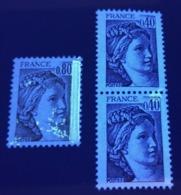 Variétés De PHOSPHO Sur N°1971 + 2118 ( Paire ) ** ! - Errors & Oddities