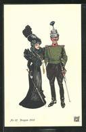 Künstler-AK Sign. De Warnay: Bern Schweiz. Landesausstellung 1914, Dragon 1900, Schweizer Soldat Mit Dame In Schwarz - Militari
