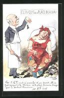 Künstler-AK Sign. Bobb: Clinique De La Place Beauvau, Mann Mit Zange Und Maus Neben Einem Verrückten - Künstlerkarten