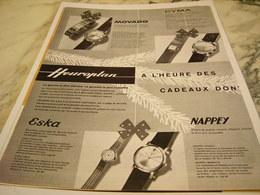 ANCIENNE PUBLICITE A L HEURE DES CADEAUX D HEUROPLAN 1961 - Bijoux & Horlogerie