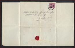 LEOPOLD II ; Verzegelde Brief Met Nr. 46 Van Notaris / Notaire BOSERET Uit CINEY ; Staat Zie 2 Scans ! Inzet 5 € ! - 1884-1891 Leopold II.