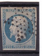 # Z.10811 France Republic 1852 Value 25 C. Used, Yvert 10, Michel 9a: President Louis Napoleon - 1852 Luigi-Napoleone