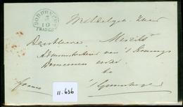 POSTHISTORIE * VOORLOPER * BRIEFOMSLAG Van DORDRECHT Naar 's KONINGS DOMEINEN  Te 's-GRAVENHAGE   (11.636) - Niederlande