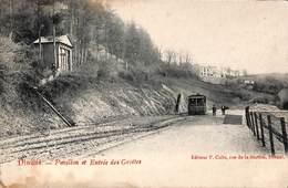 Dinant - Pavillon Et Entrée Des Grottes (tram Tramway, Edit. F. Colle) - Dinant