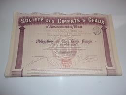 CIMENTS & CHAUX D'ANGOULINS SUR MER - Actions & Titres