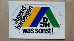 Aufkleber Mit Werbung Für Das Deutsche Jugendherbergswerk (DJH) - Autocollants