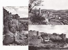 3 Cartes MINERVE Rocher Tour Des Cathares, Vue Générale Nord, Remparts - Photos Ernest Tschorn - - France