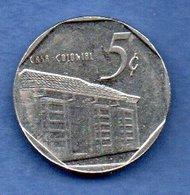 D  //  Cuba  - 5 Centavos 1994 -  Km # 575.1 -  état  TTB+ - Cuba