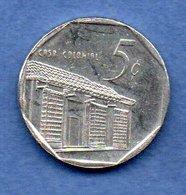 D  //  Cuba  - 5 Centavos 1996 -  Km # 575.2 -  état  TTB+ - Cuba