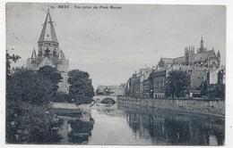 (RECTO / VERSO) METZ EN 1924 - N° 24 - VUE PRISE DU PONT MOYEN - BEAU TIMBRE OLYMPIADES PARIS ET CACHET - CPA - Metz