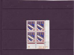 N° 1353 - 0,10F Blason De TROYES - V De U+V -5° Tirage Du 11.8 Au 1.9.71 - 20.8.71 - 3PHO - - 1970-1979