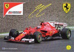 Kimi Raikkonen  -  Ferrari SF70H  -  Formule 1  2017   -  Carte Promo - Grand Prix / F1