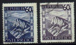 Osterreich 1945 , MiNr 762,763, Gestempelt - 1945-.... 2ª República