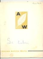 TOP - Brochure éditée Pour Les 50ans De L'usine Achille WELLE, 1908/1958 - IXELLES - Tabacs, Cigarettes, Cigares ( B270) - Documents