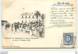 SURINAME - Aankomst Van Gouvereur C. Lely Te Paramaribo - Suriname