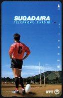 JAPAN - SUGADAIRA - RUGBY - NTT TELEPHONE CARD 105 - USED - Sport