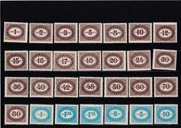 Österreich, Portomarken Nr. 204/231** (T 12624) - Segnatasse