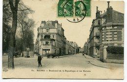 CPA - Carte Postale - France - Reims - Boulevard De La République Et Rue Buirette - 1912 ( I10648) - Reims