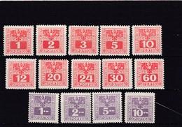Österreich, Portomarken Nr. 175/88** (T 12627) - Segnatasse