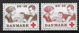 Danemark 1969 N° 497/498 Neufs** Surtaxe Pour La Croix Rouge - Danimarca