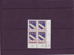 N° 1353 - 0,10F Blason De TROYES - U De U+V -4° Tirage Du  26.1.71 Au 22.2.71 - 16.02.1971 - - 1970-1979