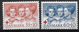 Danemark 1964 N° 433/434 Neufs** Surtaxe Pour La Croix Rouge - Danimarca