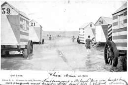 Oostende Ostende - Les Bains (animée, Cabines, Edit. VG 1903) - Oostende