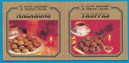 CARTON LINDT LES RECETTES GOURMANDES DE MONSIEUR CHOCOLAT MACARON AU CHOCOLAT TRUFFES SURFINE - Publicités