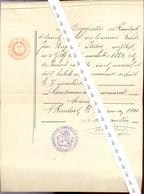 RANSART   1900    ......bourgmestre - Wetten & Decreten