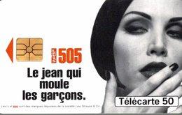 TELECARTE 50 UNITES LEVIS 505 LE JEAN QUI MOULE LES GARCONS - Werbung