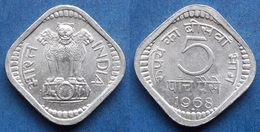 INDIA - 5 Paise 1968 KM# 18 Republic Decimal Coinage - Edelweiss Coins - India