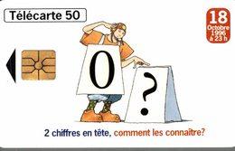 TELECARTE 50 UNITES NUMEROTATION 10 CHIFFRES - Werbung