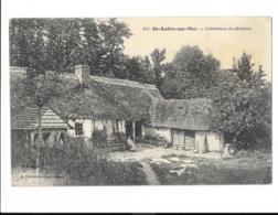 Saint-Aubin-sur-Mer - Habitations De Pêcheurs - édit. A. Bettembos 941 + Verso - Francia