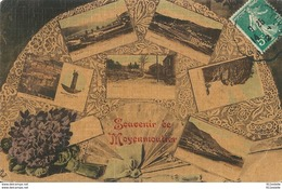 88  MOYENMOUTIER  .  SOUVENIR  De . ( Eventail Carte Toilllée Couleur) - France