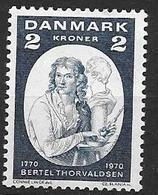 Danemark 1970 N° 514 Neuf** Bertel Thorvaldsen Sculpteur - Danimarca