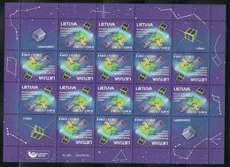 Lithuania 2014 MNH 1st Lithuanian Space Satellites LitSat-1 Tête-bêche ** KLB - Litauen