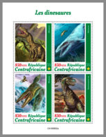 CENTRALAFRICA 2019 MNH Dinosaurs Dinosaurier Dinosaures M/S - OFFICIAL ISSUE - DH1947 - Prehistorics