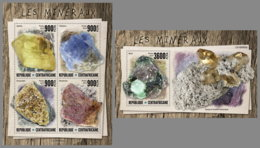 CENTRALAFRICA 2019 MNH Minerals Mineralien Mineraux M/S+S/S - OFFICIAL ISSUE - DH1947 - Minerali