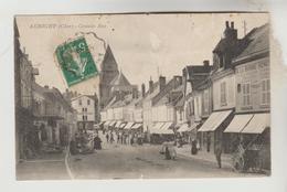 CPA AUBIGNY SUR NERE (Cher) - La Grande Rue Jour De Marché - Aubigny Sur Nere