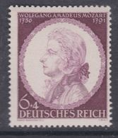 Allemagne N° 734 XX 150ème Anniversaire De La Mort De Mozart, Sans Charnière,  TB - Unused Stamps
