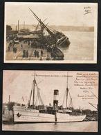"""BORDEAUX: Gros Plan Sur Le Paquebot """"Le Chili"""" échoué Dans Le Port Le 24/04/1903. RARE Carte Photo Obl Le 30/04/1903.... - Bordeaux"""