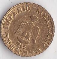 Petite Piece Or Maximiliano Emperador, Imperio Mexicano 1865, Mexique, Empereur - Messico