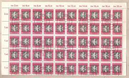 DDR - Foglio Intero (su Due Parti) Usato Da 0,20 Marchi Michel 609: Posta Aerea - 1957 *G - Usados