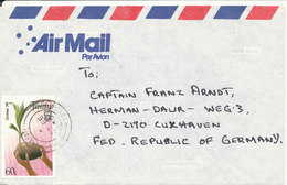 Tuvalu Air Mail Cover Sent To Germany 27-2-1990 Single Franked - Tuvalu